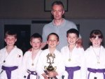 Sensei Davis with some young Karate-ka